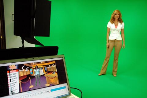 apresentador para gravar em estúdio de vídeo?